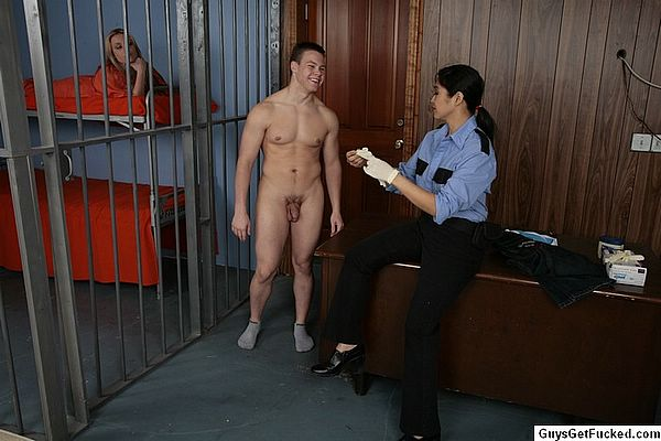 Male guards strip search female